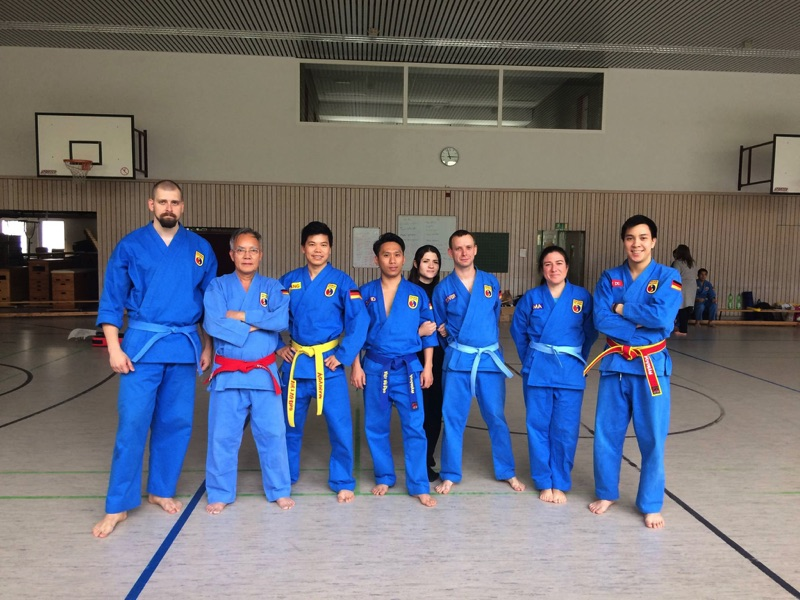 Training with master Chieu and master Du the day before the event